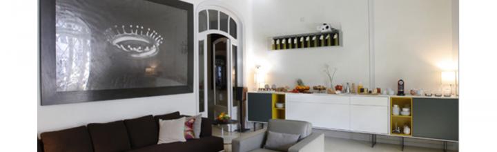 """Reforma, rehabilitación integral y restauración de 2 pisos del """"Eixample"""" de Barcelona para uso de Hotel Boutique."""